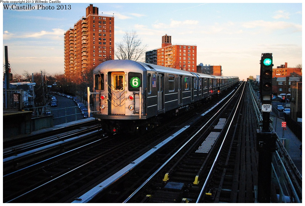 (331k, 1044x707)<br><b>Country:</b> United States<br><b>City:</b> New York<br><b>System:</b> New York City Transit<br><b>Line:</b> IRT Pelham Line<br><b>Location:</b> Middletown Road <br><b>Route:</b> 6<br><b>Car:</b> R-62A (Bombardier, 1984-1987)  2145 <br><b>Photo by:</b> Wilfredo Castillo<br><b>Date:</b> 1/10/2013<br><b>Viewed (this week/total):</b> 0 / 1337