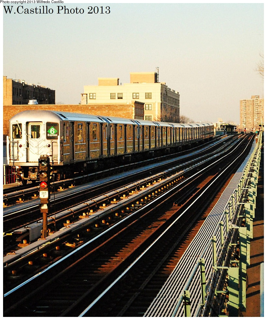 (433k, 872x1044)<br><b>Country:</b> United States<br><b>City:</b> New York<br><b>System:</b> New York City Transit<br><b>Line:</b> IRT Pelham Line<br><b>Location:</b> Zerega Avenue <br><b>Route:</b> 6<br><b>Car:</b> R-62A (Bombardier, 1984-1987)  2145 <br><b>Photo by:</b> Wilfredo Castillo<br><b>Date:</b> 2/14/2013<br><b>Viewed (this week/total):</b> 2 / 1298