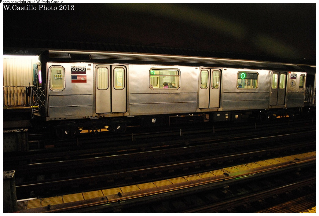 (280k, 1044x707)<br><b>Country:</b> United States<br><b>City:</b> New York<br><b>System:</b> New York City Transit<br><b>Line:</b> IRT Flushing Line<br><b>Location:</b> 52nd Street/Lincoln Avenue <br><b>Route:</b> 7<br><b>Car:</b> R-62A (Bombardier, 1984-1987)  2080 <br><b>Photo by:</b> Wilfredo Castillo<br><b>Date:</b> 2/19/2013<br><b>Viewed (this week/total):</b> 0 / 1022