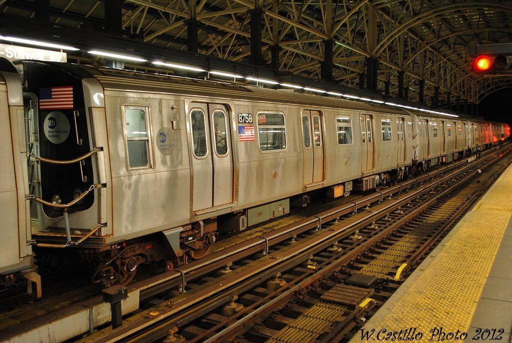 (379k, 1024x687)<br><b>Country:</b> United States<br><b>City:</b> New York<br><b>System:</b> New York City Transit<br><b>Location:</b> Coney Island/Stillwell Avenue<br><b>Car:</b> R-160B (Kawasaki, 2005-2008)  8758 <br><b>Photo by:</b> Wilfredo Castillo<br><b>Date:</b> 11/8/2012<br><b>Viewed (this week/total):</b> 2 / 909