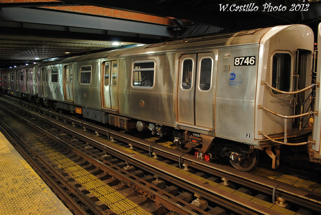 (366k, 1024x687)<br><b>Country:</b> United States<br><b>City:</b> New York<br><b>System:</b> New York City Transit<br><b>Location:</b> Coney Island/Stillwell Avenue<br><b>Car:</b> R-160B (Kawasaki, 2005-2008)  8746 <br><b>Photo by:</b> Wilfredo Castillo<br><b>Date:</b> 11/8/2012<br><b>Viewed (this week/total):</b> 0 / 898