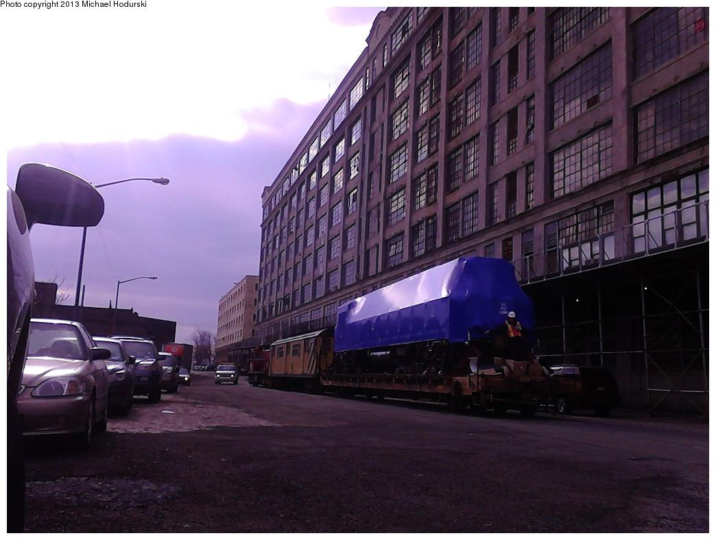 (261k, 1044x788)<br><b>Country:</b> United States<br><b>City:</b> New York<br><b>System:</b> New York City Transit<br><b>Line:</b> South Brooklyn Railway<br><b>Location:</b> 2nd Avenue (SBK)<br><b>Car:</b> R-156 Diesel-Electric Locomotive (MPI, 2012-2013) 913 <br><b>Photo by:</b> Michael Hodurski<br><b>Date:</b> 2/6/2013<br><b>Viewed (this week/total):</b> 0 / 850