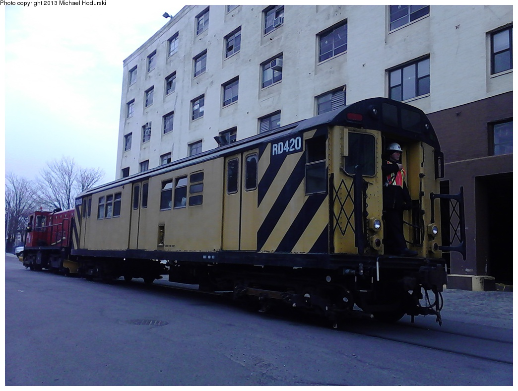 (242k, 1044x788)<br><b>Country:</b> United States<br><b>City:</b> New York<br><b>System:</b> New York City Transit<br><b>Line:</b> South Brooklyn Railway<br><b>Location:</b> 2nd Avenue (SBK)<br><b>Car:</b> R-161 Rider Car (ex-R-33)  RD420 <br><b>Photo by:</b> Michael Hodurski<br><b>Date:</b> 2/7/2013<br><b>Viewed (this week/total):</b> 0 / 796