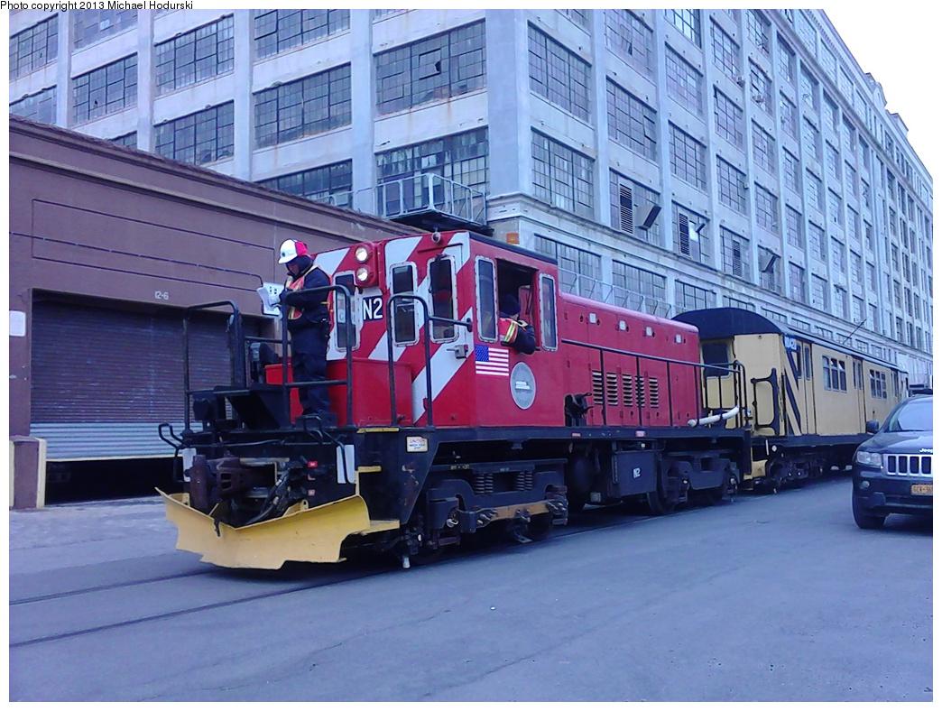 (335k, 1044x788)<br><b>Country:</b> United States<br><b>City:</b> New York<br><b>System:</b> New York City Transit<br><b>Line:</b> South Brooklyn Railway<br><b>Location:</b> 2nd Avenue (SBK)<br><b>Car:</b> R-47 (SBK) Locomotive  N2 <br><b>Photo by:</b> Michael Hodurski<br><b>Date:</b> 2/7/2013<br><b>Viewed (this week/total):</b> 1 / 814