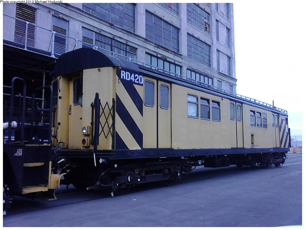 (259k, 1044x788)<br><b>Country:</b> United States<br><b>City:</b> New York<br><b>System:</b> New York City Transit<br><b>Line:</b> South Brooklyn Railway<br><b>Location:</b> 2nd Avenue (SBK)<br><b>Car:</b> R-161 Rider Car (ex-R-33)  RD420 <br><b>Photo by:</b> Michael Hodurski<br><b>Date:</b> 2/7/2013<br><b>Viewed (this week/total):</b> 0 / 810