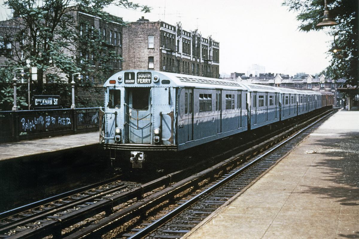 (465k, 1044x710)<br><b>Country:</b> United States<br><b>City:</b> New York<br><b>System:</b> New York City Transit<br><b>Line:</b> IRT West Side Line<br><b>Location:</b> Dyckman Street <br><b>Route:</b> 1<br><b>Car:</b> R-36 World's Fair (St. Louis, 1963-64) 9497 <br><b>Collection of:</b> David Pirmann<br><b>Viewed (this week/total):</b> 0 / 1071