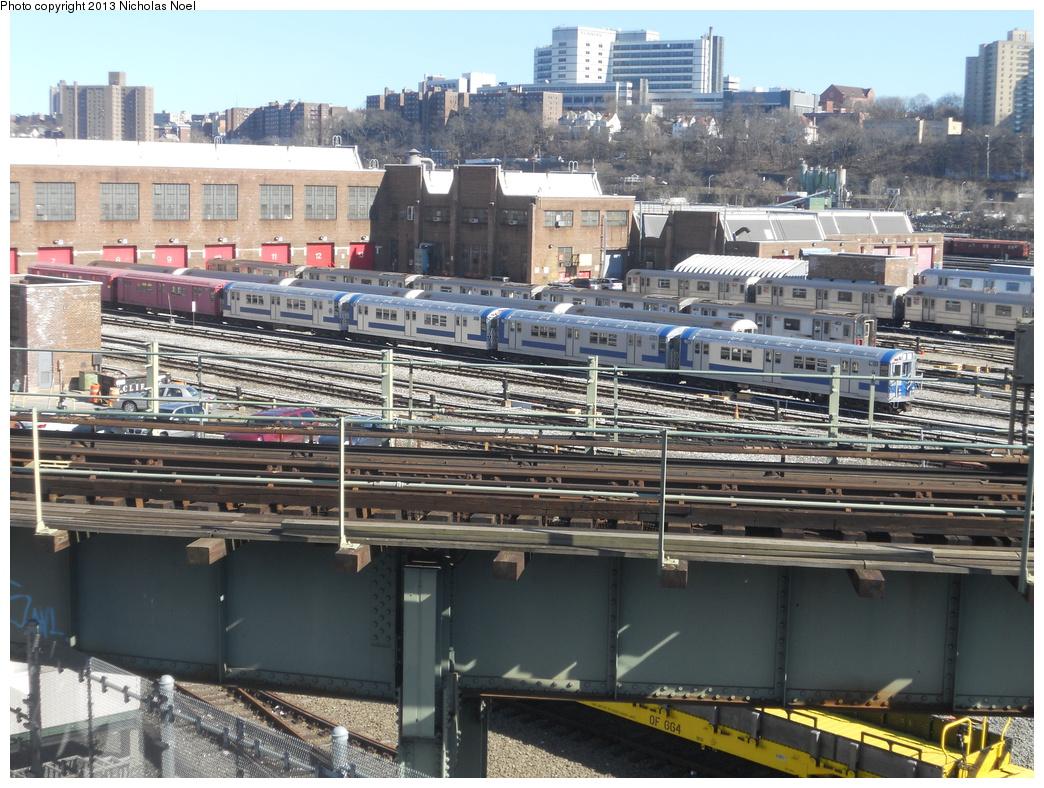 (438k, 1044x788)<br><b>Country:</b> United States<br><b>City:</b> New York<br><b>System:</b> New York City Transit<br><b>Location:</b> 207th Street Yard<br><b>Car:</b> R-33 Main Line (St. Louis, 1962-63) 9011 etc <br><b>Photo by:</b> Nicholas Noel<br><b>Date:</b> 2/18/2013<br><b>Viewed (this week/total):</b> 3 / 1103
