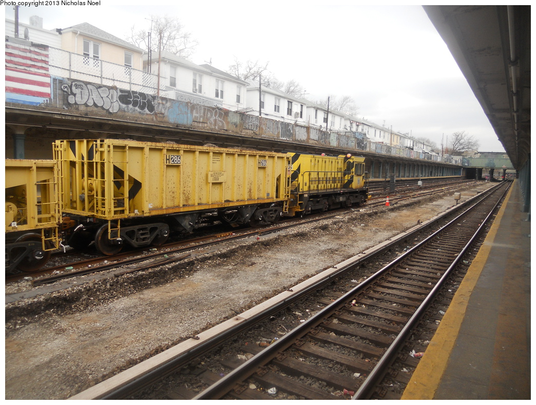 (429k, 1044x788)<br><b>Country:</b> United States<br><b>City:</b> New York<br><b>System:</b> New York City Transit<br><b>Line:</b> BMT Sea Beach Line<br><b>Location:</b> Avenue U <br><b>Route:</b> Work Service<br><b>Car:</b> R-80 MoW Hopper (1983, Maxon)  286 <br><b>Photo by:</b> Nicholas Noel<br><b>Date:</b> 3/15/2013<br><b>Viewed (this week/total):</b> 0 / 887