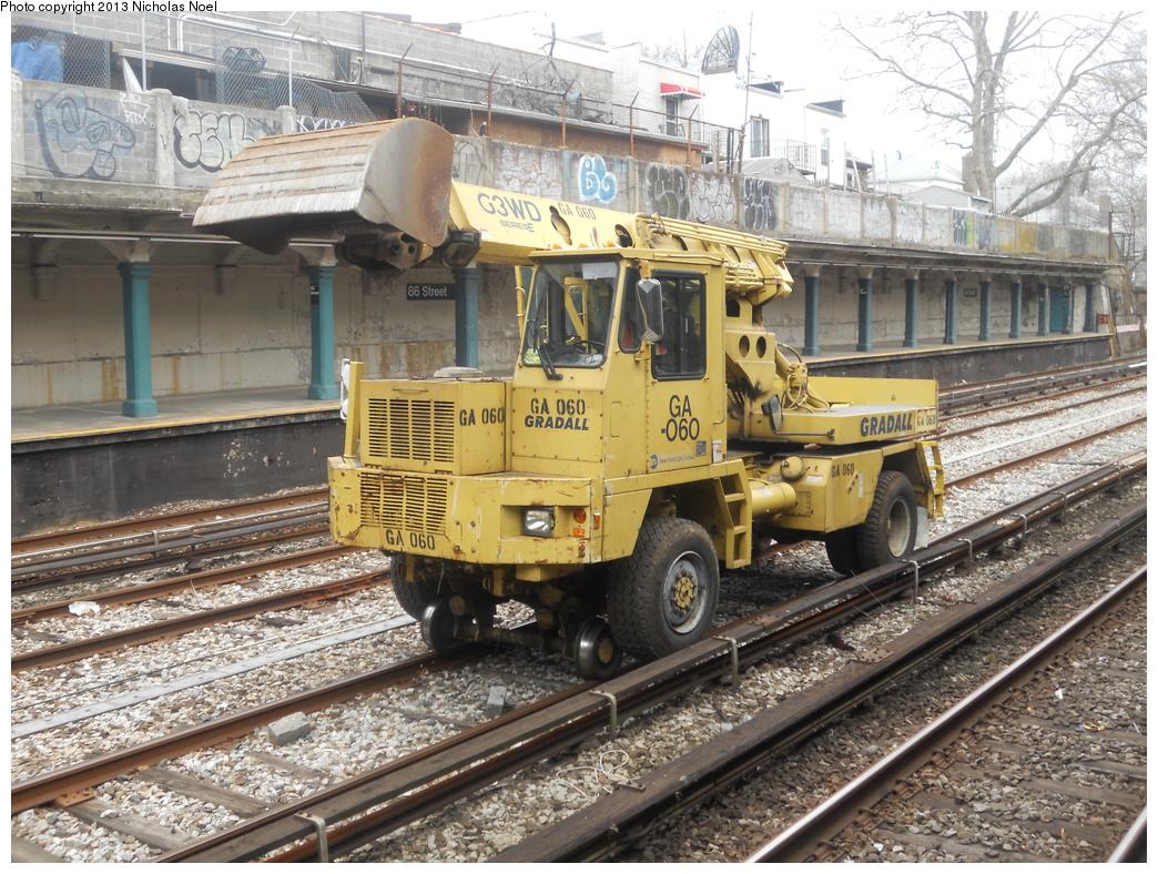 (481k, 1044x788)<br><b>Country:</b> United States<br><b>City:</b> New York<br><b>System:</b> New York City Transit<br><b>Line:</b> BMT Sea Beach Line<br><b>Location:</b> 86th Street <br><b>Route:</b> Work Service<br><b>Car:</b>  GA060 <br><b>Photo by:</b> Nicholas Noel<br><b>Date:</b> 3/15/2013<br><b>Viewed (this week/total):</b> 0 / 758