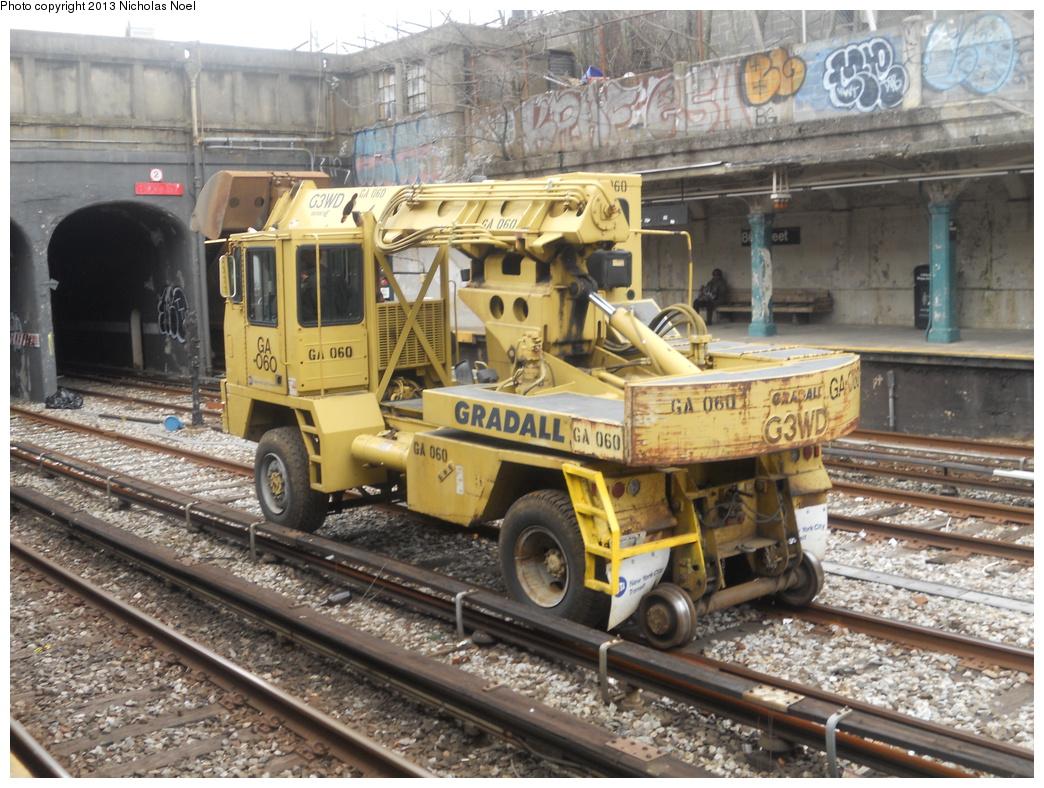 (434k, 1044x788)<br><b>Country:</b> United States<br><b>City:</b> New York<br><b>System:</b> New York City Transit<br><b>Line:</b> BMT Sea Beach Line<br><b>Location:</b> 86th Street <br><b>Route:</b> Work Service<br><b>Car:</b>  GA060 <br><b>Photo by:</b> Nicholas Noel<br><b>Date:</b> 3/15/2013<br><b>Viewed (this week/total):</b> 2 / 692