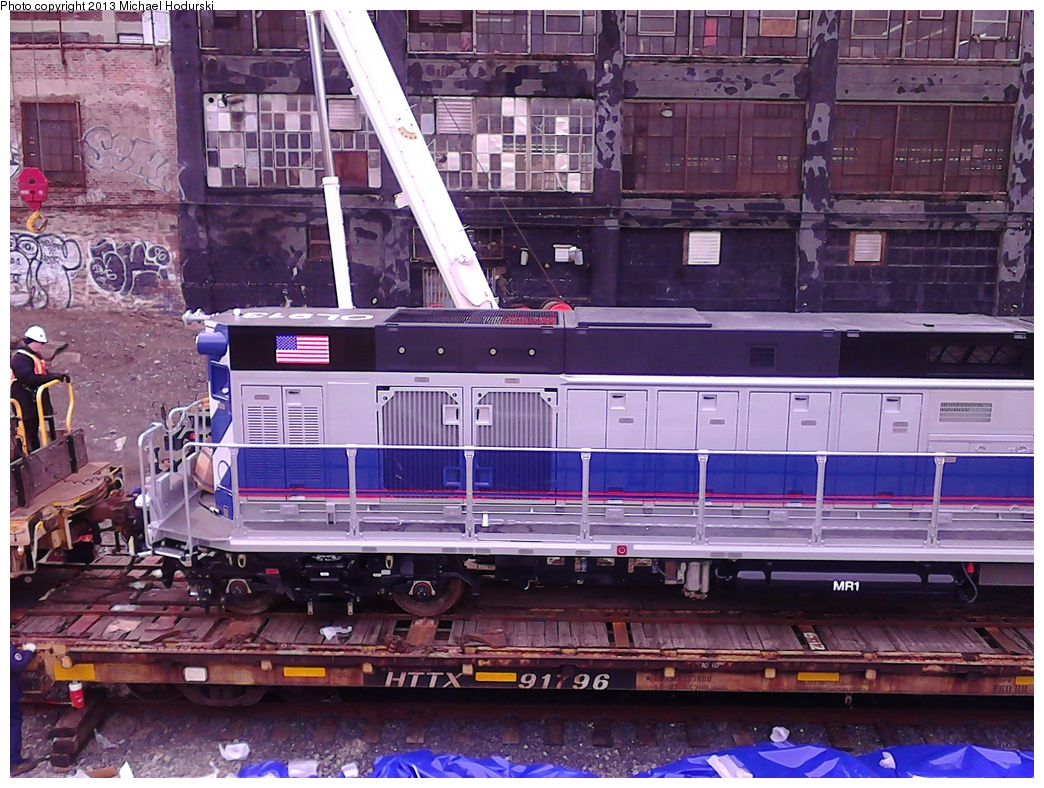 (372k, 1044x788)<br><b>Country:</b> United States<br><b>City:</b> New York<br><b>System:</b> New York City Transit<br><b>Line:</b> South Brooklyn Railway<br><b>Location:</b> 39th St Yard (bet. 4th & 3rd Aves) (SBK)<br><b>Car:</b> R-156 Diesel-Electric Locomotive (MPI, 2012-2013) 913 <br><b>Photo by:</b> Michael Hodurski<br><b>Date:</b> 2/7/2013<br><b>Viewed (this week/total):</b> 1 / 1132