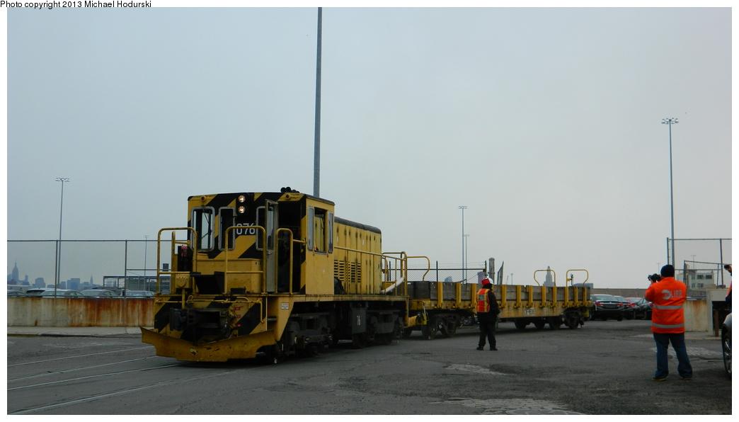 (215k, 1044x596)<br><b>Country:</b> United States<br><b>City:</b> New York<br><b>System:</b> New York City Transit<br><b>Line:</b> South Brooklyn Railway<br><b>Location:</b> 1st Avenue & 39th St (SBK)<br><b>Car:</b> R-52 Locomotive  76 <br><b>Photo by:</b> Michael Hodurski<br><b>Date:</b> 3/20/2013<br><b>Viewed (this week/total):</b> 3 / 869