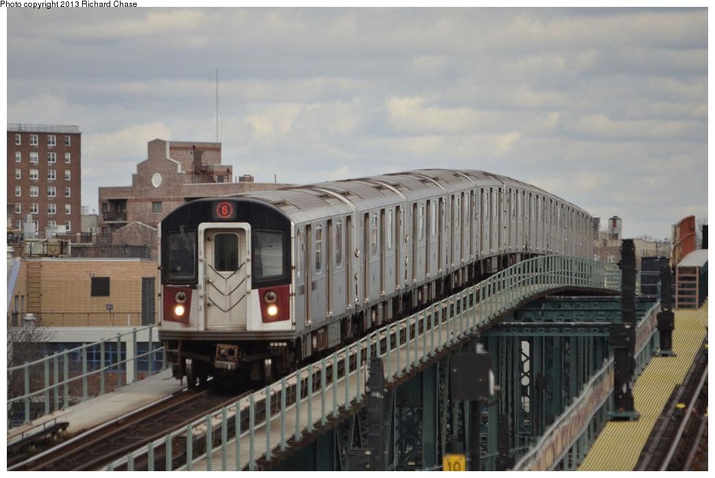 (333k, 1044x698)<br><b>Country:</b> United States<br><b>City:</b> New York<br><b>System:</b> New York City Transit<br><b>Line:</b> IRT Pelham Line<br><b>Location:</b> Westchester Square <br><b>Route:</b> 6<br><b>Car:</b> R-142 or R-142A (Number Unknown)  <br><b>Photo by:</b> Richard Chase<br><b>Date:</b> 3/22/2013<br><b>Viewed (this week/total):</b> 0 / 957
