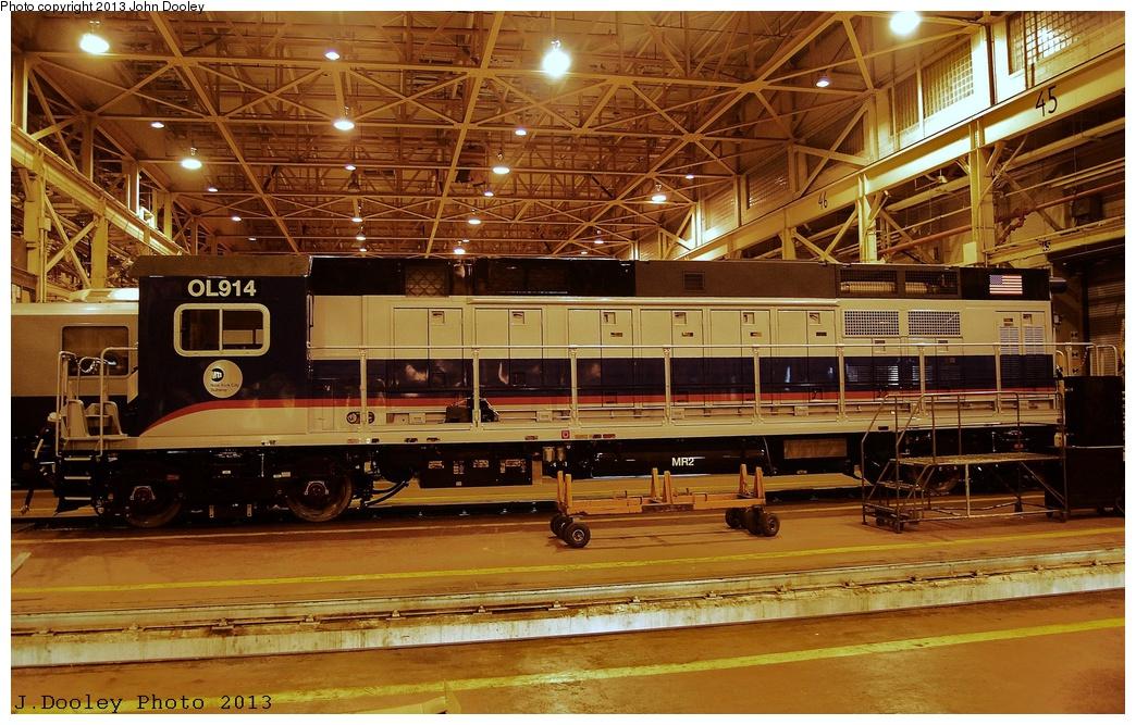 (390k, 1044x667)<br><b>Country:</b> United States<br><b>City:</b> New York<br><b>System:</b> New York City Transit<br><b>Location:</b> Coney Island Shop/Overhaul & Repair Shop<br><b>Car:</b> R-156 Diesel-Electric Locomotive (MPI, 2012-2013) 914 <br><b>Photo by:</b> John Dooley<br><b>Date:</b> 3/24/2013<br><b>Viewed (this week/total):</b> 0 / 1079