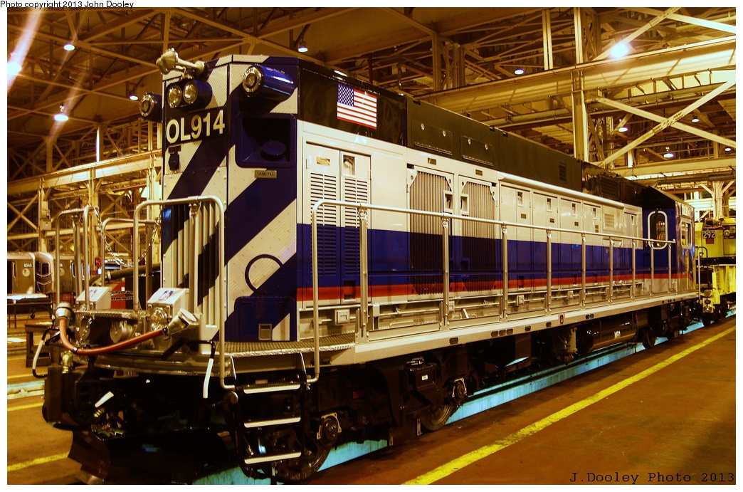 (399k, 1044x691)<br><b>Country:</b> United States<br><b>City:</b> New York<br><b>System:</b> New York City Transit<br><b>Location:</b> Coney Island Shop/Overhaul & Repair Shop<br><b>Car:</b> R-156 Diesel-Electric Locomotive (MPI, 2012-2013) 914 <br><b>Photo by:</b> John Dooley<br><b>Date:</b> 3/24/2013<br><b>Viewed (this week/total):</b> 0 / 1422
