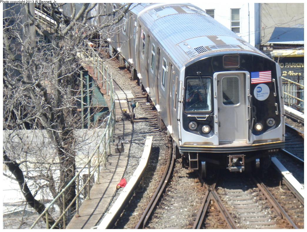 (449k, 1044x788)<br><b>Country:</b> United States<br><b>City:</b> New York<br><b>System:</b> New York City Transit<br><b>Location:</b> East New York Yard/Shops<br><b>Car:</b> R-160A-2 (Alstom, 2005-2008, 5 car sets)  8657 <br><b>Photo by:</b> Al Bennett, Jr.<br><b>Date:</b> 4/3/2013<br><b>Viewed (this week/total):</b> 0 / 630
