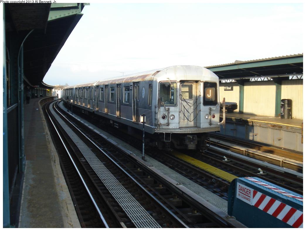 (293k, 1044x788)<br><b>Country:</b> United States<br><b>City:</b> New York<br><b>System:</b> New York City Transit<br><b>Line:</b> BMT Nassau Street/Jamaica Line<br><b>Location:</b> 111th Street <br><b>Route:</b> J layup<br><b>Car:</b> R-42 (St. Louis, 1969-1970)  4821 <br><b>Photo by:</b> Al Bennett, Jr.<br><b>Date:</b> 4/1/2013<br><b>Viewed (this week/total):</b> 0 / 818