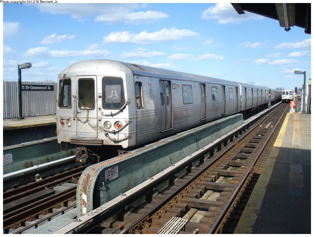 (355k, 1044x788)<br><b>Country:</b> United States<br><b>City:</b> New York<br><b>System:</b> New York City Transit<br><b>Line:</b> IND Fulton Street Line<br><b>Location:</b> 111th Street/Greenwood Avenue <br><b>Route:</b> A layup<br><b>Car:</b> R-46 (Pullman-Standard, 1974-75) 5894 <br><b>Photo by:</b> Al Bennett, Jr.<br><b>Date:</b> 4/2/2013<br><b>Viewed (this week/total):</b> 0 / 813
