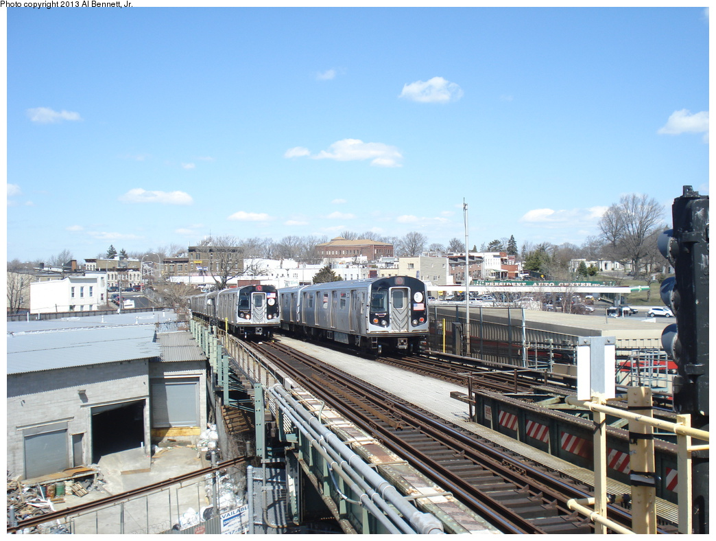 (363k, 1044x788)<br><b>Country:</b> United States<br><b>City:</b> New York<br><b>System:</b> New York City Transit<br><b>Line:</b> BMT Canarsie Line<br><b>Location:</b> Broadway Junction <br><b>Route:</b> L<br><b>Car:</b> R-160A-1 (Alstom, 2005-2008, 4 car sets)  8317 <br><b>Photo by:</b> Al Bennett, Jr.<br><b>Date:</b> 4/3/2013<br><b>Viewed (this week/total):</b> 0 / 1026