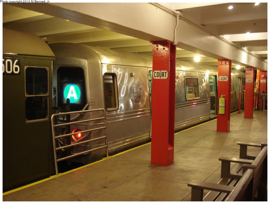 (324k, 1044x788)<br><b>Country:</b> United States<br><b>City:</b> New York<br><b>System:</b> New York City Transit<br><b>Location:</b> New York Transit Museum<br><b>Car:</b> R-44 (St. Louis, 1971-73) 5240 <br><b>Photo by:</b> Al Bennett, Jr.<br><b>Date:</b> 4/4/2013<br><b>Viewed (this week/total):</b> 2 / 1984