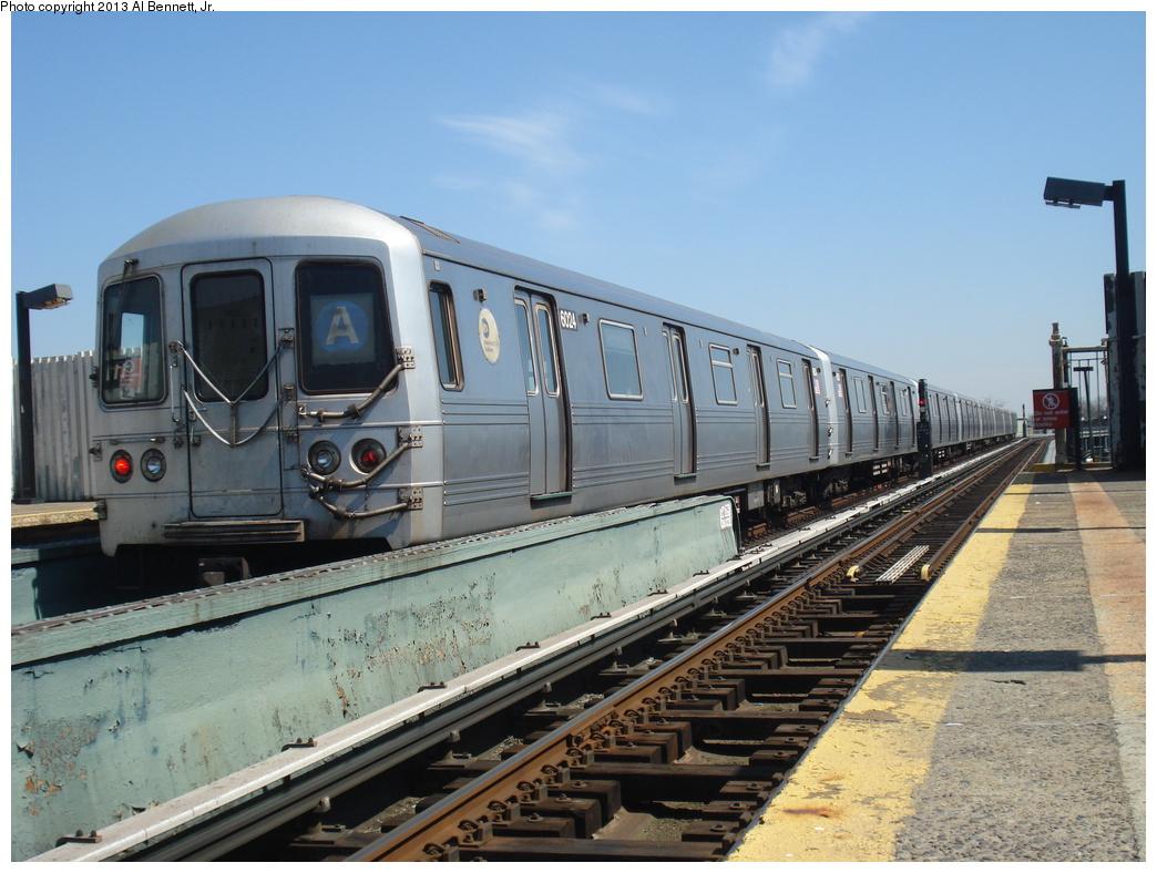 (333k, 1044x788)<br><b>Country:</b> United States<br><b>City:</b> New York<br><b>System:</b> New York City Transit<br><b>Line:</b> IND Fulton Street Line<br><b>Location:</b> 111th Street/Greenwood Avenue <br><b>Route:</b> A layup<br><b>Car:</b> R-46 (Pullman-Standard, 1974-75) 6024 <br><b>Photo by:</b> Al Bennett, Jr.<br><b>Date:</b> 4/5/2013<br><b>Viewed (this week/total):</b> 1 / 852