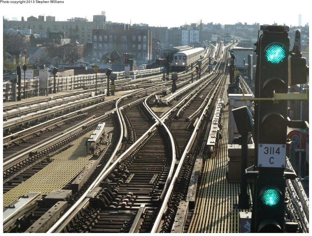 (425k, 1044x788)<br><b>Country:</b> United States<br><b>City:</b> New York<br><b>System:</b> New York City Transit<br><b>Line:</b> IRT Flushing Line<br><b>Location:</b> 74th Street/Broadway <br><b>Route:</b> 7<br><b>Car:</b> R-62A (Bombardier, 1984-1987)   <br><b>Photo by:</b> Stephen A. Williams<br><b>Date:</b> 4/21/2013<br><b>Viewed (this week/total):</b> 0 / 1187