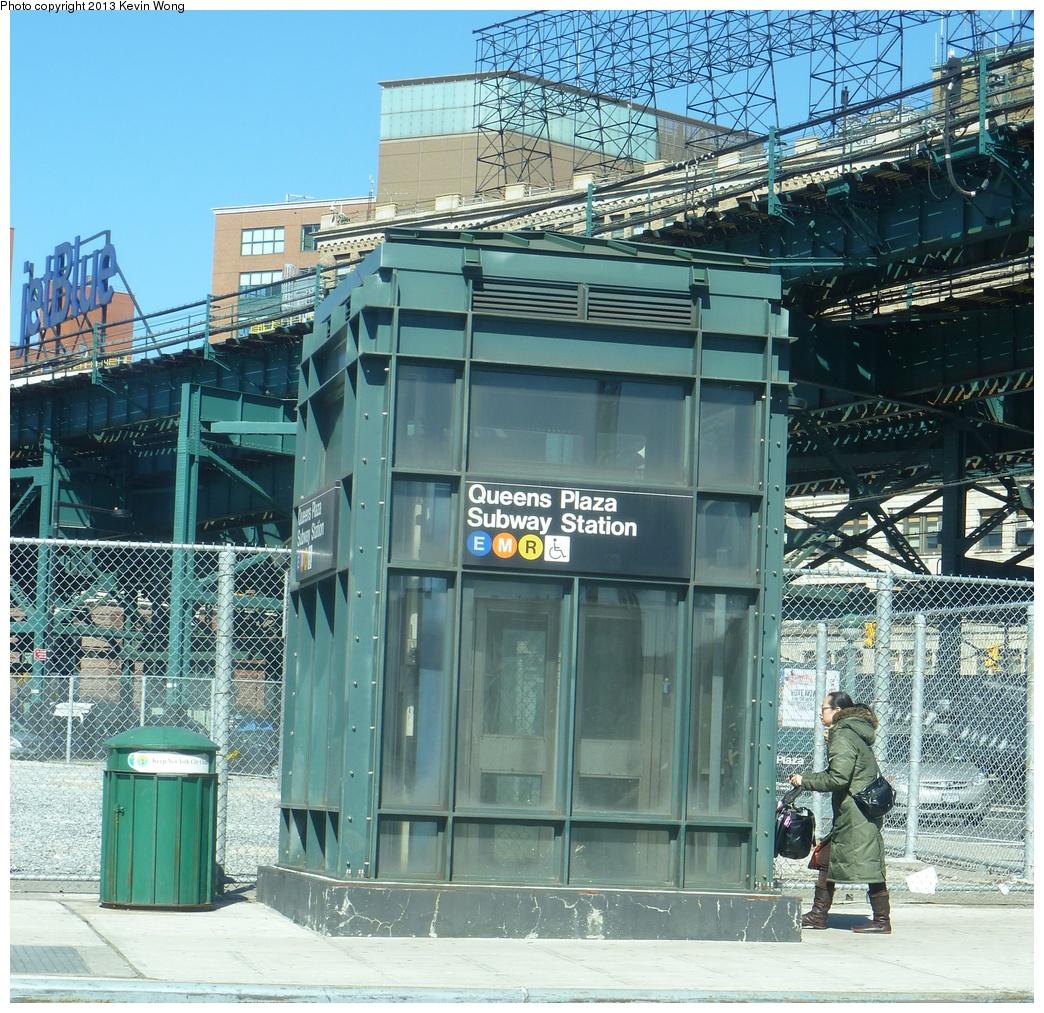 (500k, 1044x1013)<br><b>Country:</b> United States<br><b>City:</b> New York<br><b>System:</b> New York City Transit<br><b>Line:</b> IND Queens Boulevard Line<br><b>Location:</b> Queens Plaza <br><b>Photo by:</b> Kevin Wong<br><b>Date:</b> 3/5/2013<br><b>Notes:</b> Station entrance.<br><b>Viewed (this week/total):</b> 0 / 1274