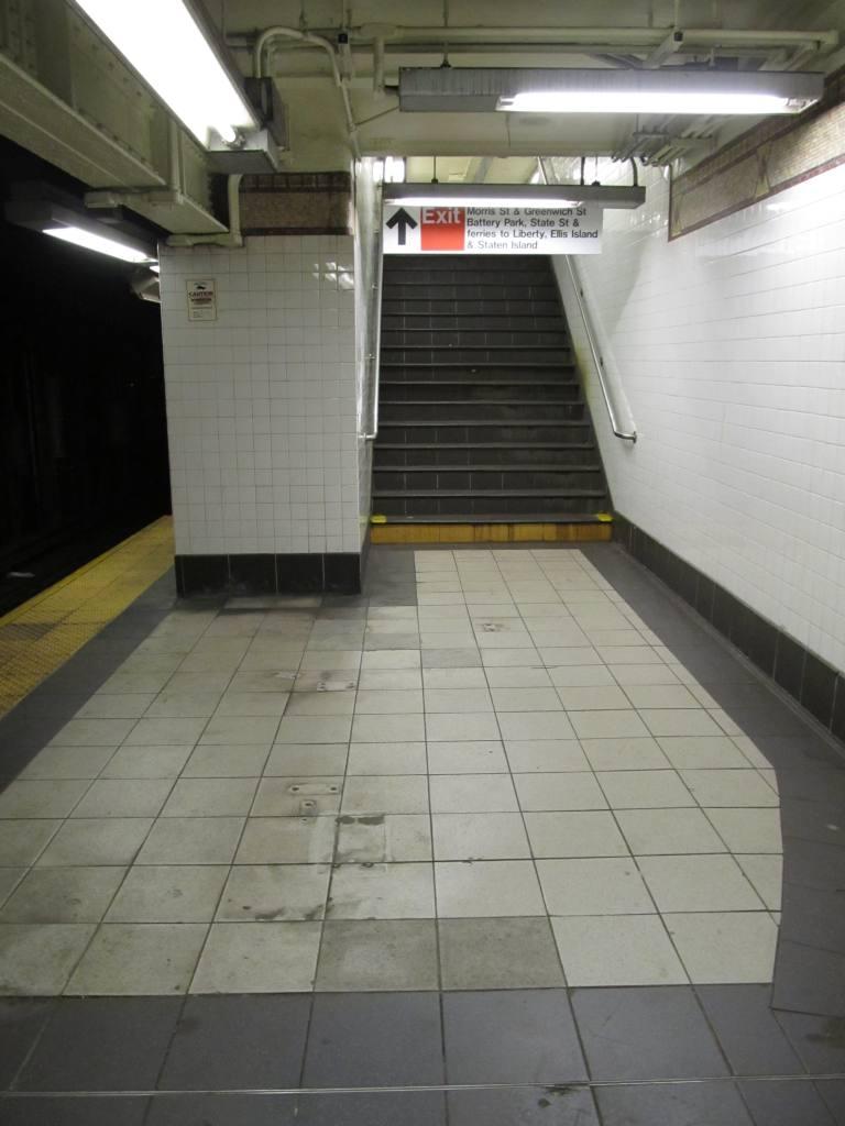 (93k, 768x1024)<br><b>Country:</b> United States<br><b>City:</b> New York<br><b>System:</b> New York City Transit<br><b>Line:</b> BMT Broadway Line<br><b>Location:</b> Rector Street <br><b>Photo by:</b> Robbie Rosenfeld<br><b>Date:</b> 1/21/2013<br><b>Viewed (this week/total):</b> 0 / 1167