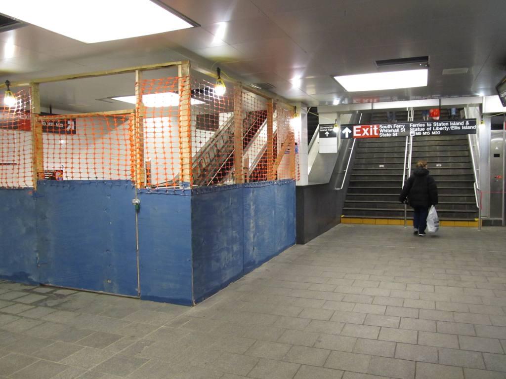 (112k, 1024x768)<br><b>Country:</b> United States<br><b>City:</b> New York<br><b>System:</b> New York City Transit<br><b>Line:</b> BMT Broadway Line<br><b>Location:</b> Whitehall Street <br><b>Photo by:</b> Robbie Rosenfeld<br><b>Date:</b> 12/9/2012<br><b>Viewed (this week/total):</b> 4 / 971