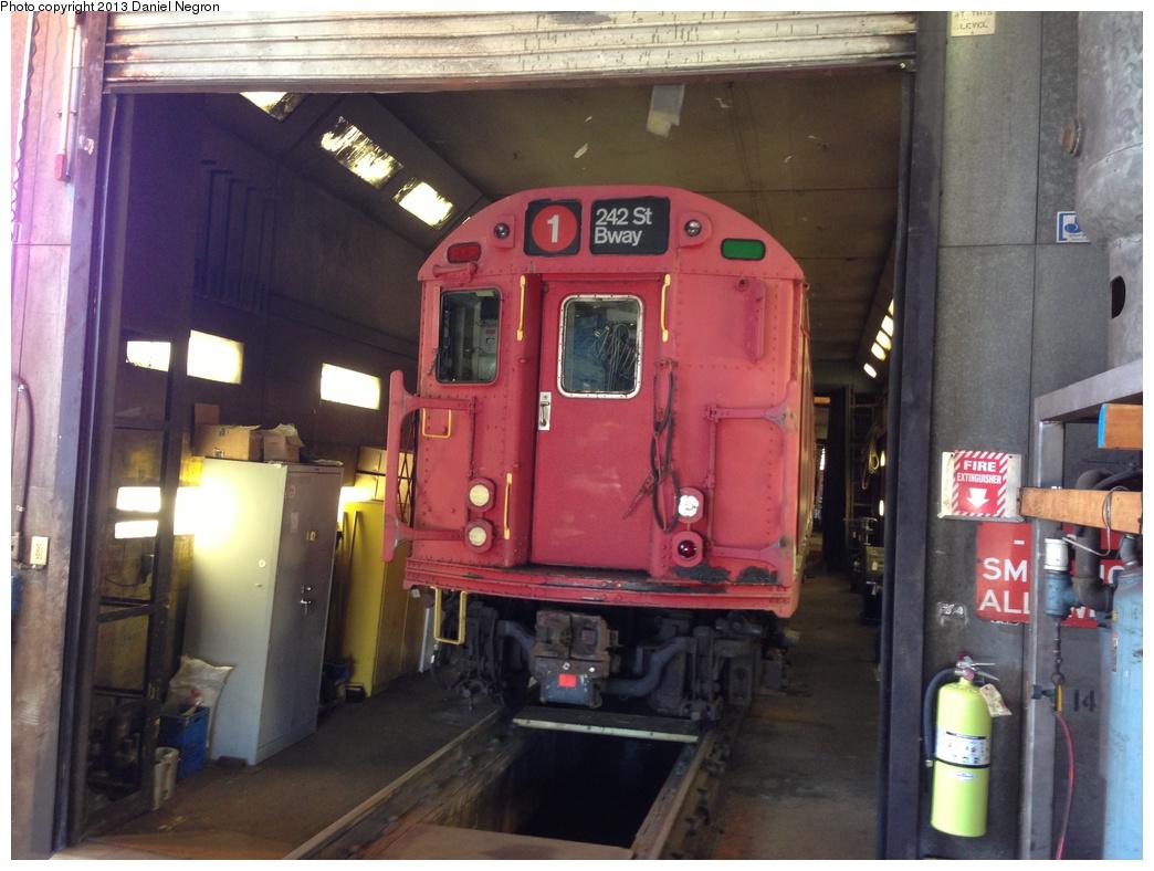 (279k, 1044x788)<br><b>Country:</b> United States<br><b>City:</b> New York<br><b>System:</b> New York City Transit<br><b>Location:</b> 207th Street Shop<br><b>Car:</b> R-33 Main Line (St. Louis, 1962-63) 9016 <br><b>Photo by:</b> Daniel Negron<br><b>Date:</b> 5/1/2013<br><b>Viewed (this week/total):</b> 0 / 1109