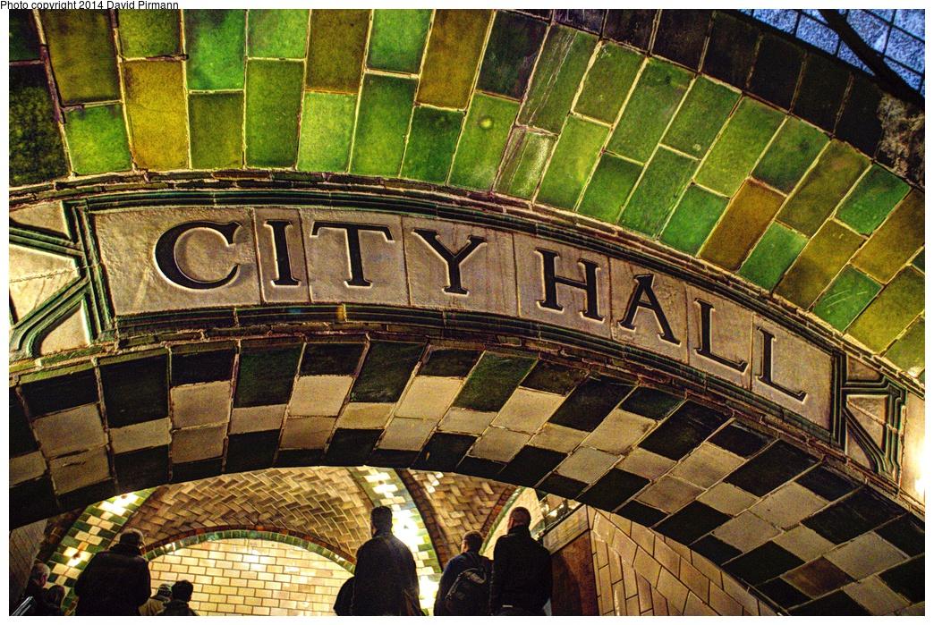 (485k, 1044x699)<br><b>Country:</b> United States<br><b>City:</b> New York<br><b>System:</b> New York City Transit<br><b>Line:</b> IRT East Side Line<br><b>Location:</b> City Hall <br><b>Photo by:</b> David Pirmann<br><b>Date:</b> 4/13/2013<br><b>Viewed (this week/total):</b> 0 / 1935