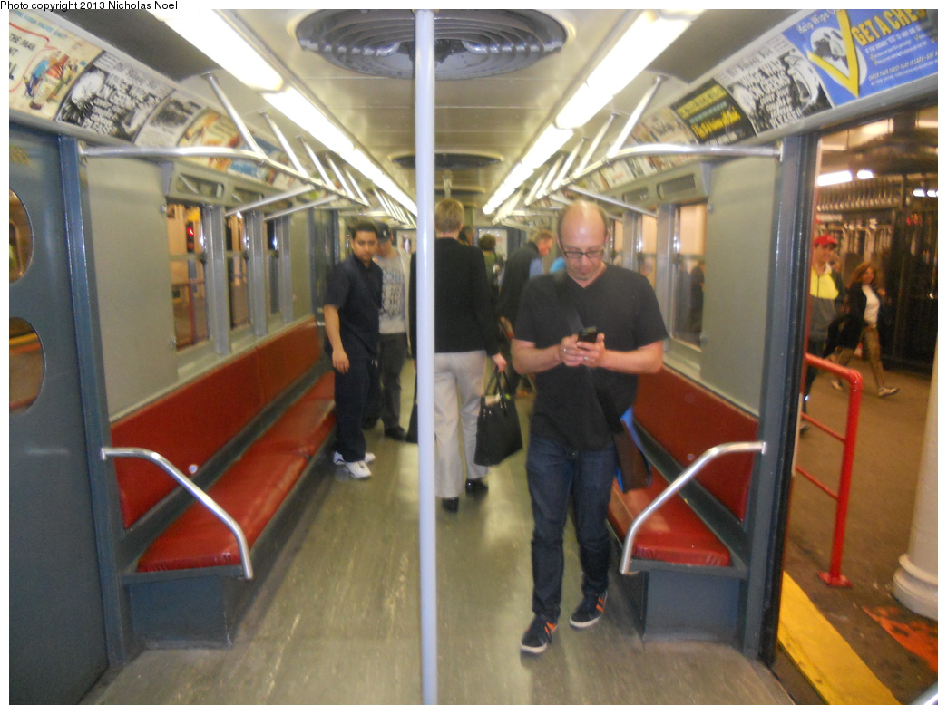 (348k, 1044x788)<br><b>Country:</b> United States<br><b>City:</b> New York<br><b>System:</b> New York City Transit<br><b>Line:</b> IRT Times Square-Grand Central Shuttle<br><b>Location:</b> Grand Central <br><b>Route:</b> Museum Train Service<br><b>Car:</b> R-15 (American Car & Foundry, 1950) 6239 <br><b>Photo by:</b> Nicholas Noel<br><b>Date:</b> 5/12/2013<br><b>Notes:</b> National Train Day service.<br><b>Viewed (this week/total):</b> 1 / 863