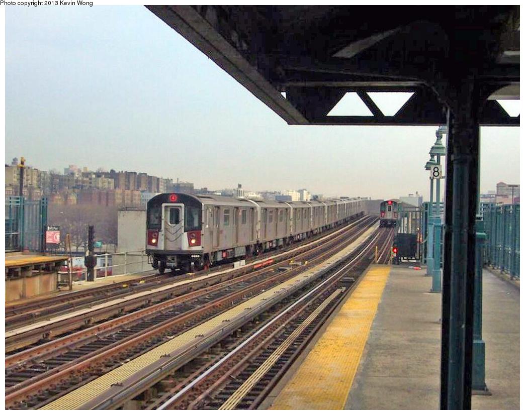 (361k, 1044x826)<br><b>Country:</b> United States<br><b>City:</b> New York<br><b>System:</b> New York City Transit<br><b>Line:</b> IRT Woodlawn Line<br><b>Location:</b> 161st Street/River Avenue (Yankee Stadium) <br><b>Route:</b> 4<br><b>Car:</b> R-142 or R-142A (Number Unknown)  <br><b>Photo by:</b> Kevin Wong<br><b>Date:</b> 3/15/2007<br><b>Viewed (this week/total):</b> 0 / 710