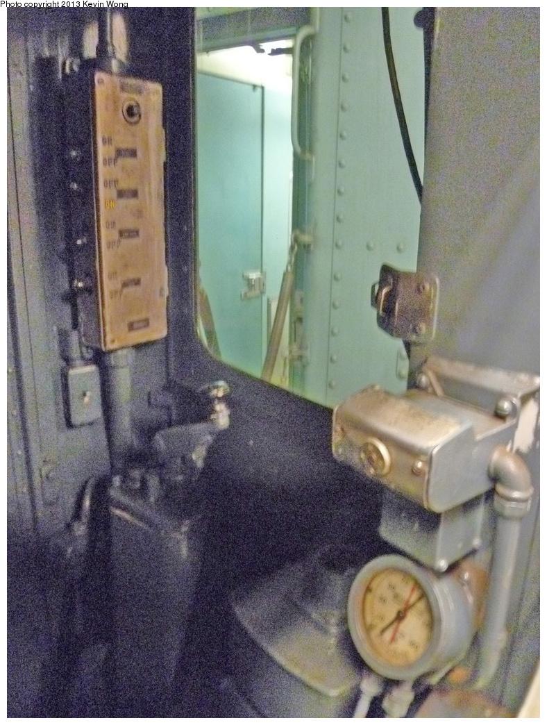 (425k, 788x1044)<br><b>Country:</b> United States<br><b>City:</b> New York<br><b>System:</b> New York City Transit<br><b>Route:</b> Museum Train Service<br><b>Car:</b> R-15 (American Car & Foundry, 1950) 6239 <br><b>Photo by:</b> Kevin Wong<br><b>Date:</b> 5/15/2013<br><b>Notes:</b> Cab interior - National Train Day Service<br><b>Viewed (this week/total):</b> 0 / 915