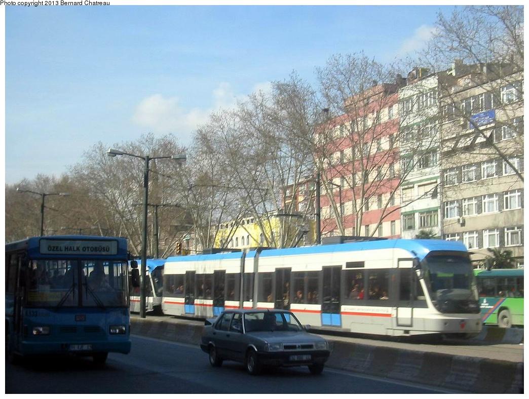 (299k, 1044x788)<br><b>Country:</b> Turkey<br><b>City:</b> Istanbul<br><b>System:</b> İstanbul Ulaşım (Istanbul Transport)<br><b>Line:</b> T1 Kabatas-Bagcilar <br><b>Location:</b> Yusufpasa (T1) <br><b>Car:</b>  7xx/749 <br><b>Photo by:</b> Bernard Chatreau<br><b>Date:</b> 2/25/2005<br><b>Viewed (this week/total):</b> 0 / 387