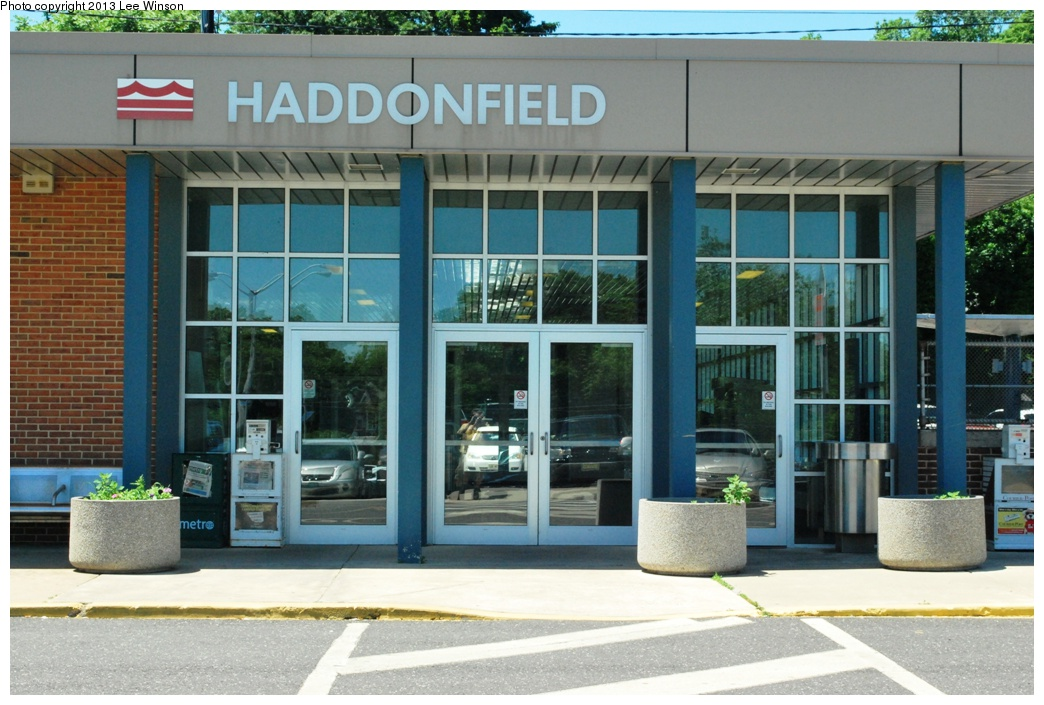 (308k, 1044x705)<br><b>Country:</b> United States<br><b>City:</b> Philadelphia, PA<br><b>System:</b> PATCO<br><b>Location:</b> Haddonfield <br><b>Photo by:</b> Lee Winson<br><b>Date:</b> 6/4/2013<br><b>Notes:</b> Station entrance. PATCO stations were refurbished in recent years.<br><b>Viewed (this week/total):</b> 0 / 580