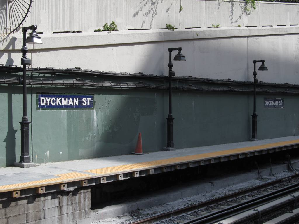 (105k, 1024x768)<br><b>Country:</b> United States<br><b>City:</b> New York<br><b>System:</b> New York City Transit<br><b>Line:</b> IRT West Side Line<br><b>Location:</b> Dyckman Street <br><b>Photo by:</b> Robbie Rosenfeld<br><b>Date:</b> 5/7/2013<br><b>Notes:</b> Restored mosaics<br><b>Viewed (this week/total):</b> 1 / 1101