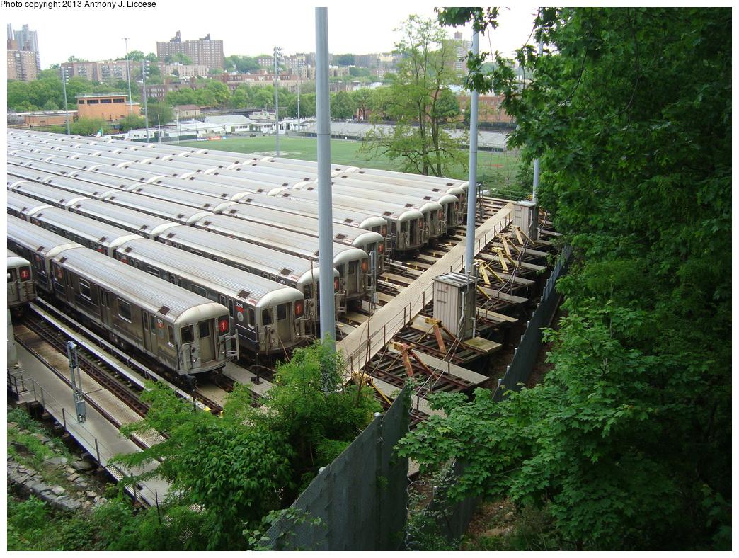 (491k, 1044x788)<br><b>Country:</b> United States<br><b>City:</b> New York<br><b>System:</b> New York City Transit<br><b>Location:</b> 240th Street Yard<br><b>Car:</b> R-62A (Bombardier, 1984-1987)  1551,2266,2456 etc <br><b>Photo by:</b> Anthony J. Liccese<br><b>Date:</b> 5/20/2013<br><b>Viewed (this week/total):</b> 0 / 1578