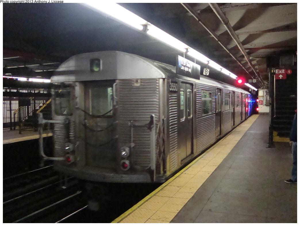 (350k, 1044x788)<br><b>Country:</b> United States<br><b>City:</b> New York<br><b>System:</b> New York City Transit<br><b>Line:</b> IND 8th Avenue Line<br><b>Location:</b> 168th Street <br><b>Route:</b> C<br><b>Car:</b> R-32 (Budd, 1964)  3550 <br><b>Photo by:</b> Anthony J. Liccese<br><b>Date:</b> 5/20/2013<br><b>Viewed (this week/total):</b> 4 / 1296
