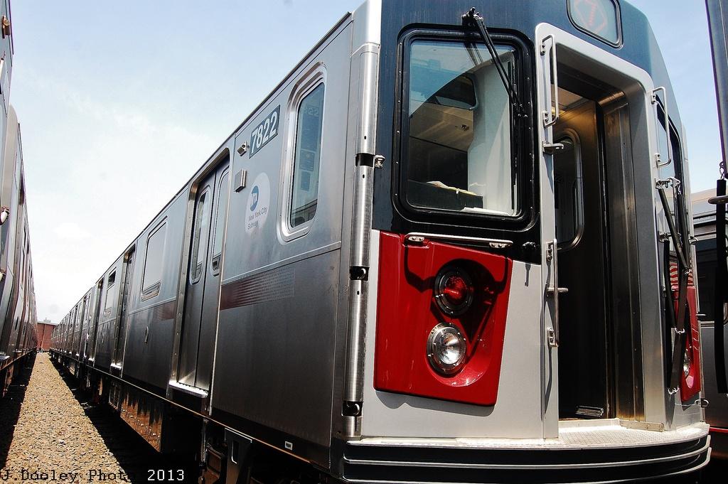 (337k, 1024x681)<br><b>Country:</b> United States<br><b>City:</b> New York<br><b>System:</b> New York City Transit<br><b>Location:</b> Coney Island Yard<br><b>Car:</b> R-188 (Kawasaki, 2012-) 7822 <br><b>Photo by:</b> John Dooley<br><b>Date:</b> 6/22/2013<br><b>Viewed (this week/total):</b> 1 / 1419
