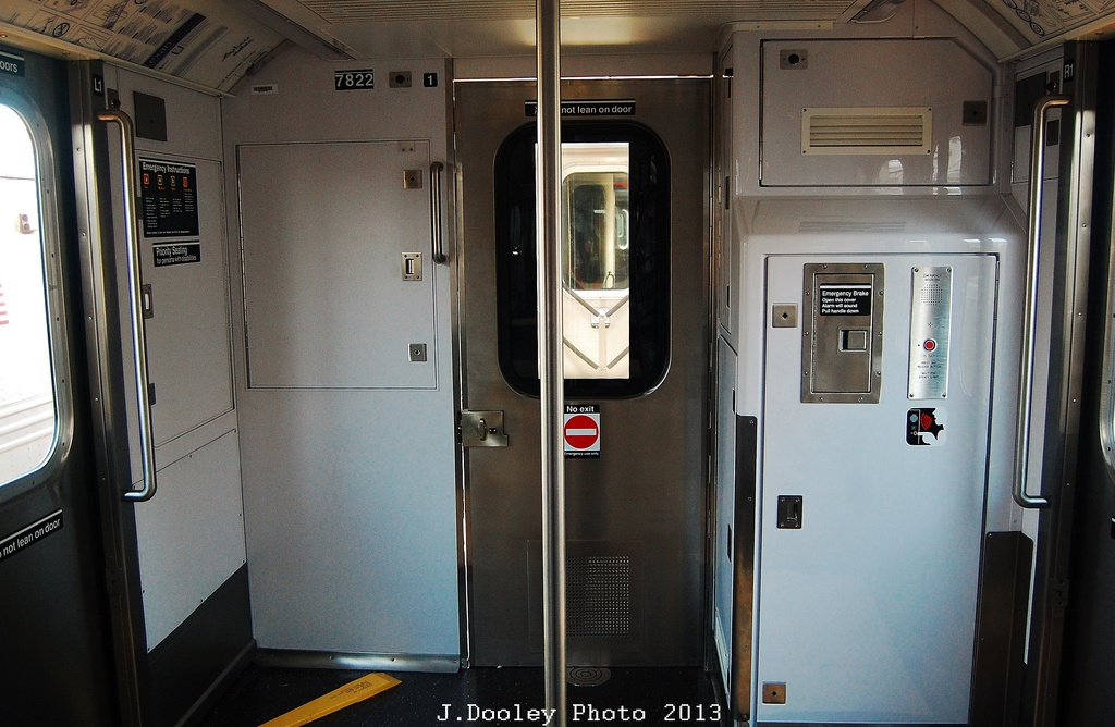 (302k, 1024x668)<br><b>Country:</b> United States<br><b>City:</b> New York<br><b>System:</b> New York City Transit<br><b>Location:</b> Coney Island Yard<br><b>Car:</b> R-188 (Kawasaki, 2012-) 7822 <br><b>Photo by:</b> John Dooley<br><b>Date:</b> 6/22/2013<br><b>Viewed (this week/total):</b> 0 / 2395