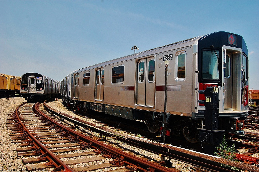 (395k, 1024x680)<br><b>Country:</b> United States<br><b>City:</b> New York<br><b>System:</b> New York City Transit<br><b>Location:</b> Coney Island Yard<br><b>Car:</b> R-188 (Kawasaki, 2012-) 7832 <br><b>Photo by:</b> John Dooley<br><b>Date:</b> 6/22/2013<br><b>Viewed (this week/total):</b> 3 / 1784