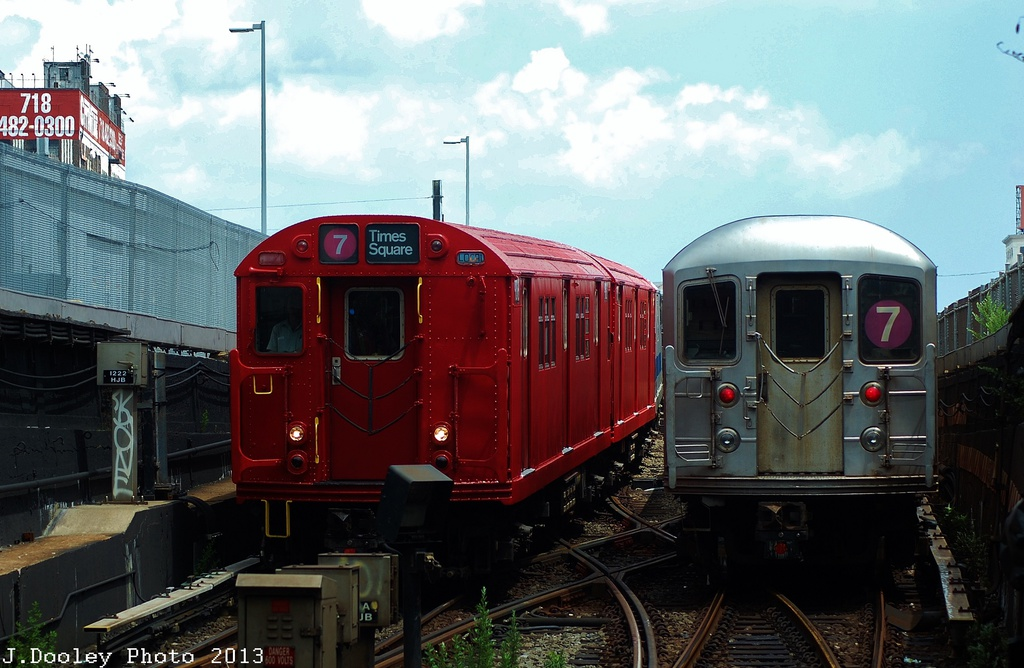(301k, 1024x668)<br><b>Country:</b> United States<br><b>City:</b> New York<br><b>System:</b> New York City Transit<br><b>Line:</b> IRT Flushing Line<br><b>Location:</b> Hunterspoint Avenue <br><b>Route:</b> Museum Train Service<br><b>Car:</b> R-33 Main Line (St. Louis, 1962-63) 9016 <br><b>Photo by:</b> John Dooley<br><b>Date:</b> 7/14/2013<br><b>Viewed (this week/total):</b> 1 / 1239