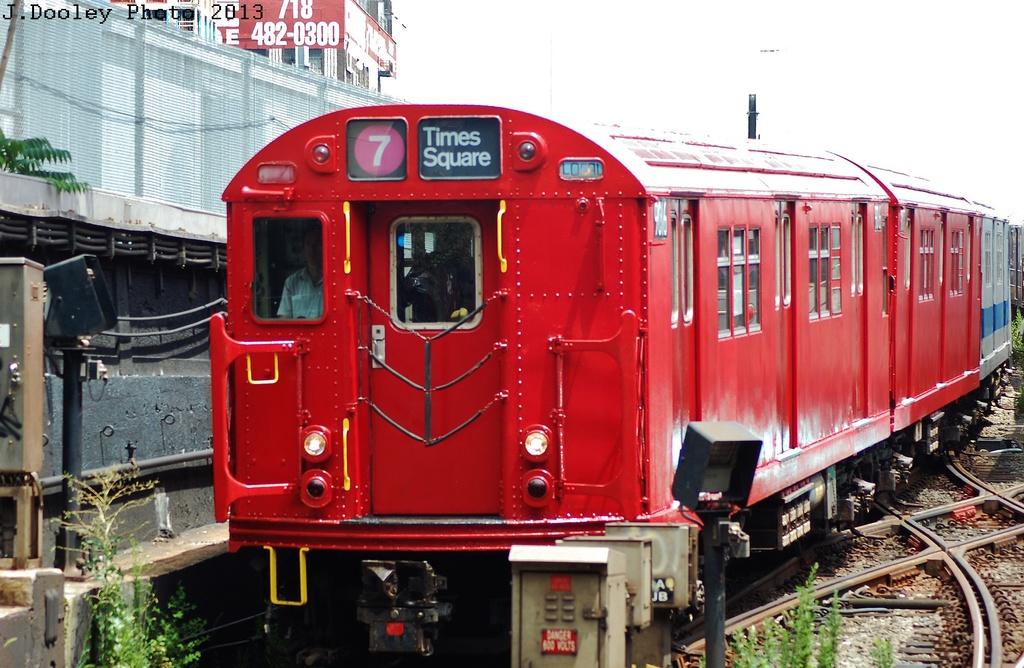 (337k, 1024x668)<br><b>Country:</b> United States<br><b>City:</b> New York<br><b>System:</b> New York City Transit<br><b>Line:</b> IRT Flushing Line<br><b>Location:</b> Hunterspoint Avenue <br><b>Route:</b> Museum Train Service<br><b>Car:</b> R-33 Main Line (St. Louis, 1962-63) 9016 <br><b>Photo by:</b> John Dooley<br><b>Date:</b> 7/14/2013<br><b>Viewed (this week/total):</b> 0 / 1304