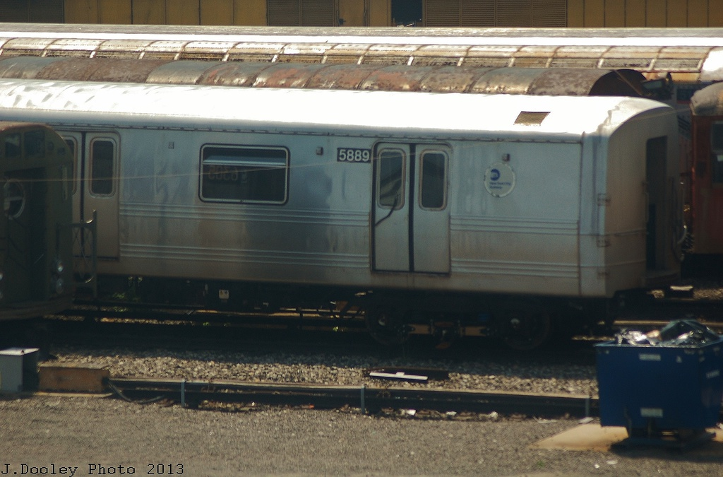(287k, 1024x675)<br><b>Country:</b> United States<br><b>City:</b> New York<br><b>System:</b> New York City Transit<br><b>Location:</b> Coney Island Yard<br><b>Car:</b> R-46 (Pullman-Standard, 1974-75) 5889 <br><b>Photo by:</b> John Dooley<br><b>Date:</b> 6/22/2013<br><b>Viewed (this week/total):</b> 4 / 723
