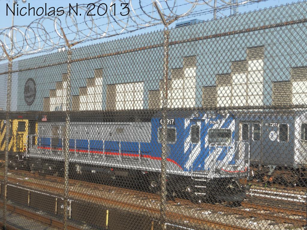 (618k, 1024x768)<br><b>Country:</b> United States<br><b>City:</b> New York<br><b>System:</b> New York City Transit<br><b>Location:</b> East 180th Street Yard<br><b>Car:</b> R-156 Diesel-Electric Locomotive (MPI, 2012-2013) 917 <br><b>Photo by:</b> Nicholas Noel<br><b>Date:</b> 6/2013<br><b>Viewed (this week/total):</b> 0 / 789