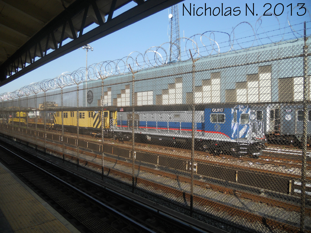 (502k, 1024x768)<br><b>Country:</b> United States<br><b>City:</b> New York<br><b>System:</b> New York City Transit<br><b>Location:</b> East 180th Street Yard<br><b>Car:</b> R-156 Diesel-Electric Locomotive (MPI, 2012-2013) 917 <br><b>Photo by:</b> Nicholas Noel<br><b>Date:</b> 6/2013<br><b>Viewed (this week/total):</b> 0 / 774