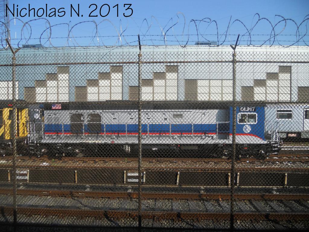 (576k, 1024x768)<br><b>Country:</b> United States<br><b>City:</b> New York<br><b>System:</b> New York City Transit<br><b>Location:</b> East 180th Street Yard<br><b>Car:</b> R-156 Diesel-Electric Locomotive (MPI, 2012-2013) 917 <br><b>Photo by:</b> Nicholas Noel<br><b>Date:</b> 6/2013<br><b>Viewed (this week/total):</b> 0 / 721
