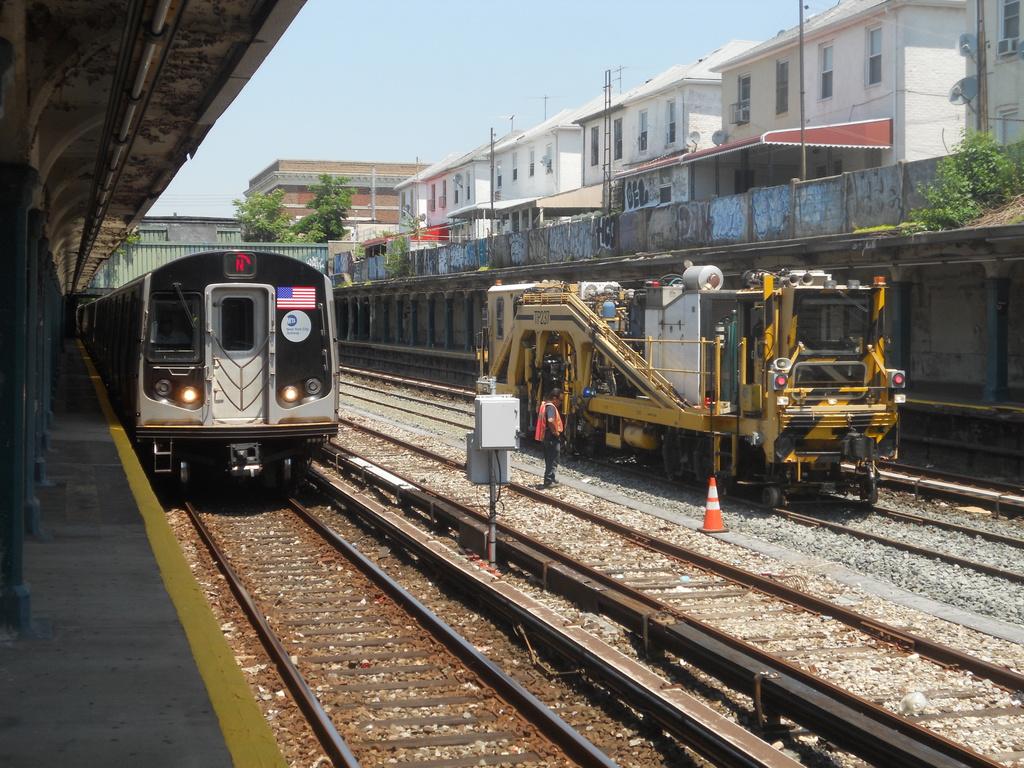 (440k, 1024x768)<br><b>Country:</b> United States<br><b>City:</b> New York<br><b>System:</b> New York City Transit<br><b>Line:</b> BMT Sea Beach Line<br><b>Location:</b> Avenue U <br><b>Route:</b> Work Service<br><b>Car:</b> Ballast Tamper TP237 <br><b>Photo by:</b> Nicholas Noel<br><b>Date:</b> 6/21/2013<br><b>Viewed (this week/total):</b> 3 / 1392