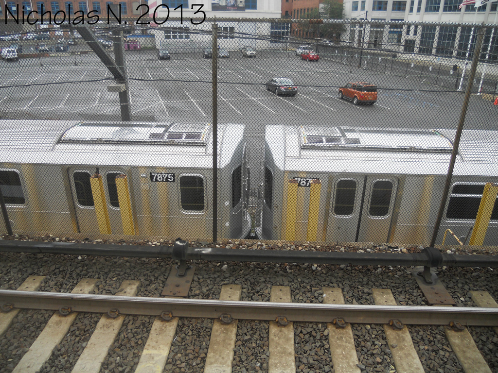 (538k, 1024x768)<br><b>System:</b> New York City Transit<br><b>Location:</b> Kawasaki Plant, Yonkers, NY<br><b>Car:</b> R-188 (Kawasaki, 2012-) 7875-7876 <br><b>Photo by:</b> Nicholas Noel<br><b>Date:</b> 8/2013<br><b>Viewed (this week/total):</b> 0 / 1136